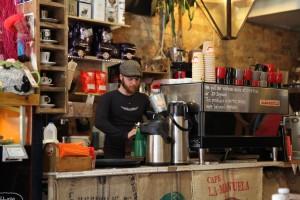 Coffee time at Cafe Boscanova