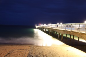 Boscombe Pier by Night