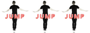 "Promotional photography for ""Jump"" arts installation - billboard in Fed Square Melbourne"