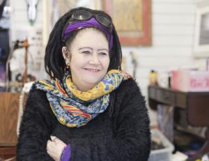 Fay Barnes. Trader in Bsocmbe's Royal Arcade