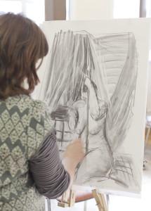 Art by Sarah at Boscombe Life Drawing Group